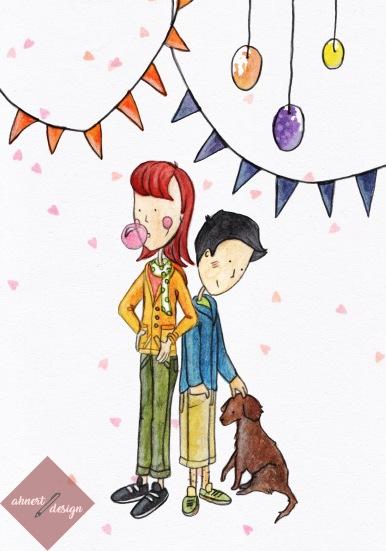 Bubblegum Girl and Dog Boy