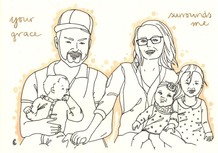 Porträt Familie Freelance Designer Illustrator Chemnitz Ahnert Design
