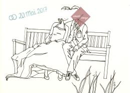 Doodle Hochzeitspaar