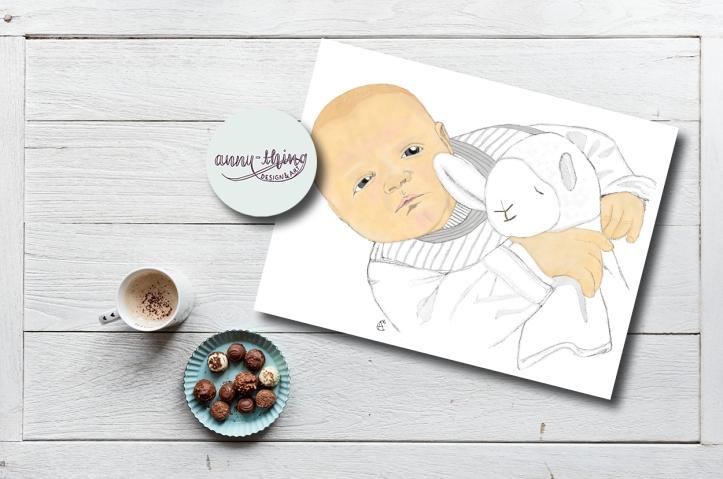 Babyportrait Mockup