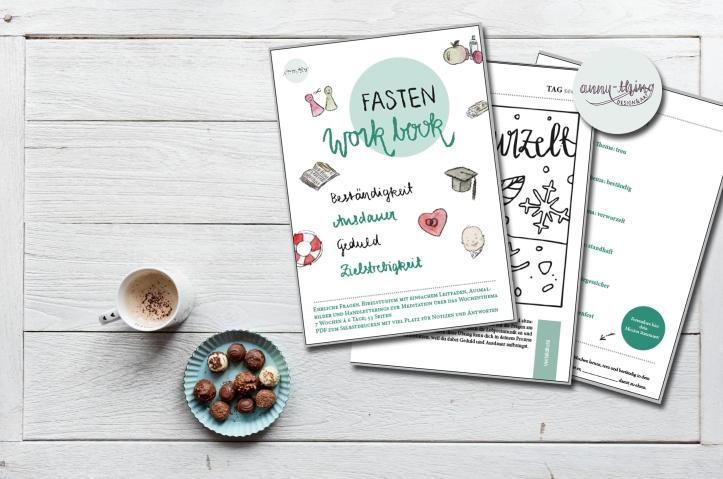 Fasten-Workbook Beständigkeit Mockup